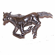 Stunning STERLING SILVER 3D Bolo - Galloping Horse (No Corded Tie)!