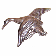 Vintage STERLING SILVER Pin/Brooch - Mallard Duck/Goose in Flight!