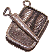 Vintage PORTUGESE Silver Charm - A Can of Sardines from Sardinia!