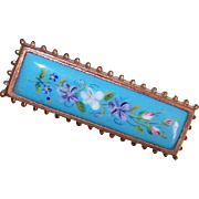 ANTIQUE VICTORIAN Gold Filled & Painted Porcelain Pin/Brooch!
