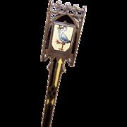 C.1900 EUROPEAN 800 Silver & Enamel Souvenir Spoon!