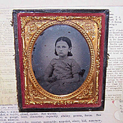 VICTORIAN Ambrotype of a Little Girl in Original (Broken) Case!
