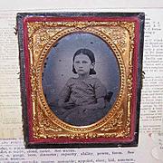 VICTORIAN Ambrotype of a Little Girl in Original (Broken) Case!