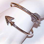 Carolyn Pollack STERLING SILVER Bypass/Wrap Bangle Bracelet - Native American Arrow!