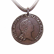 C.1771 German States SAXONY-ALBERTINE 2/3 Thaler Coin Pendant!