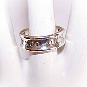 Vintage TIFFFANY & CO Sterling Silver Ring - 1837 Cigar Band Ring!