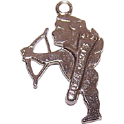 Vintage STERLING SILVER Charm - Cupid with his Love Darts!