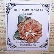 Vintage FRENCH Silk Rayon Floral Embellishment/Ribbon Applique - Ribbon Flower!