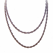 "Vintage 29"" STERLING SILVER Twist Chain Necklace!"