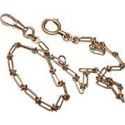 ART DECO French 18K Gold Filled (FIX) Watch Chain!