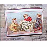 C.1900 FRENCH Pharmacy Box/Gift Box - Victorian Graphic Front - Easter Theme!