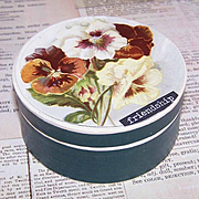 C.1900 FRENCH Pharmacy Box/Gift Box - Victorian Graphic Front - Pansies!