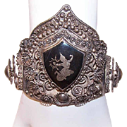 Incredible VINTAGE Siam Sterling Silver & Niello Crown for a Doll!