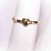 Adorable 14K Gold Baby Ring with Heart on Top!