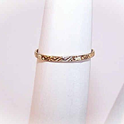 Vintage 10K Gold Baby Ring - Nicely Detailed Band!