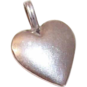 Vintage STERLING SILVER Heart Pendant or Charm!
