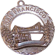 Vintage STERLING SILVER Disc Charm - San Francisco!