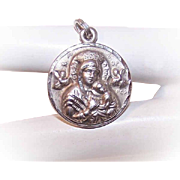Vintage MEXICAN Sterling Silver Religious Medal - Our Lady of Perpetual Help!
