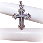 Vintage STERLING SILVER Cross Pendant by James Avery!