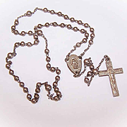 Vintage STERING SILVER Rosary for a Child or a Doll!