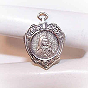 Vintage STERLING SILVER Religious Medal or Charm - Saint Theresa/St. Theresa!