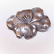 C.1910 UNGER BROTHERS Sterling Silver Pin/Brooch - Lotus Blossom!