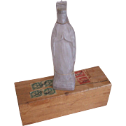 Vintage VIRGIN MARY Holy Water Container w/Original Box from Lourdes, France!