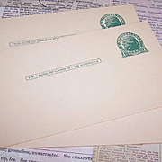 9 Vintage UNUSED Green One Cent - Thomas Jefferson - Postcards!