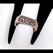 Vintage 14K Gold Sorority Signet Ring for ALPHA EPSILON PHI!