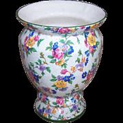 Large Vintage ERPHILA Czecho-Slovakia Chintz Flower Vase - Warwick Pattern!