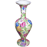 C.1936 ROYAL WINTON (Grimwades) Chintz Bud Vase - Sweet Pea Pattern!