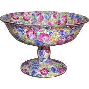 C. 1940 ROYAL WINTON Footed Compote - Royalty Pattern!