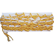 3 Yards VINTAGE Golden Yellow & Cream Loopy Cord Edging!