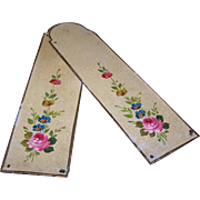 ART DECO - Pair of FRENCH Tole Handpainted Door Panels - Lots of Florals