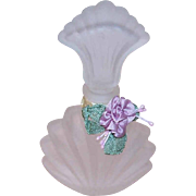 Vintage FROSTED GLASS Perfume Container/Perfume Bottle - Decorative Vanity Perfume!