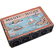 C.1920 MADE IN JAPAN Paper Box for a Magic Boat!