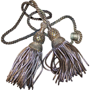 C.1890 FRENCH Gold Bullion Double Tassel - Perfect Patina of Age!