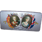 C.1935 CADBURY Souvenir Chocolate Tin - King George V & Queen Mary Silver Jubilee!