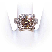 GIA Vintage PLATINUM & 2.65CT Old European Cut Diamond Engagement Ring!