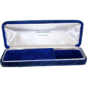 C.1917 Blue Velvet Jewelry Box from JACCARD'S, St. Louis, Mo.!
