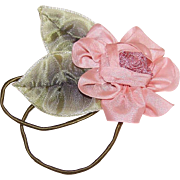 FRENCH RIBBONWORK 100% Silk & Rayon Ribbon Floral Spray Applique/Ribbon Flower Embellishment!