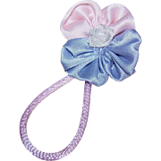 Vintage RETRO American Ribbonwork Floral Embellishment/Applique - Baby Pink & Periwinkle!