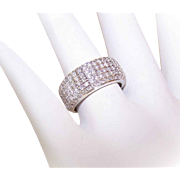 ESTATE 14K Gold & 1.20CT TW Pave Diamond Wedding Band/Wedding Ring!