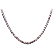 "Vintage STERLING SILVER Chain Necklace - 16"" Boxed Belcher - 22.8 Grams"