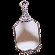 ART DECO/Antique Edwardian Platinum &.18CT TW Diamond Folding Lorgnettes - Magnifying Pendant for M'Lady!