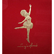 C.1948 SONJA HENIE Souvenir Ice Skating Program - Orig Paper Covering Still Intact!