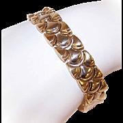 "Vintage ITALIAN 14K Gold FLEX Link Bracelet - 7"" Long - 26.4 Grams!"