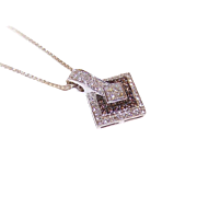 ESTATE 14K Gold, .68CT TW Clear Diamond & Chocolate Diamond Pendant!