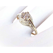 ANTIQUE EDWARDIAN 14K Gold & .51CT Old Mine Cut Diamond Engagement Ring!
