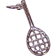 Vintage STERLING SILVER Charm - Tennis Racket - Tennis Racquet!
